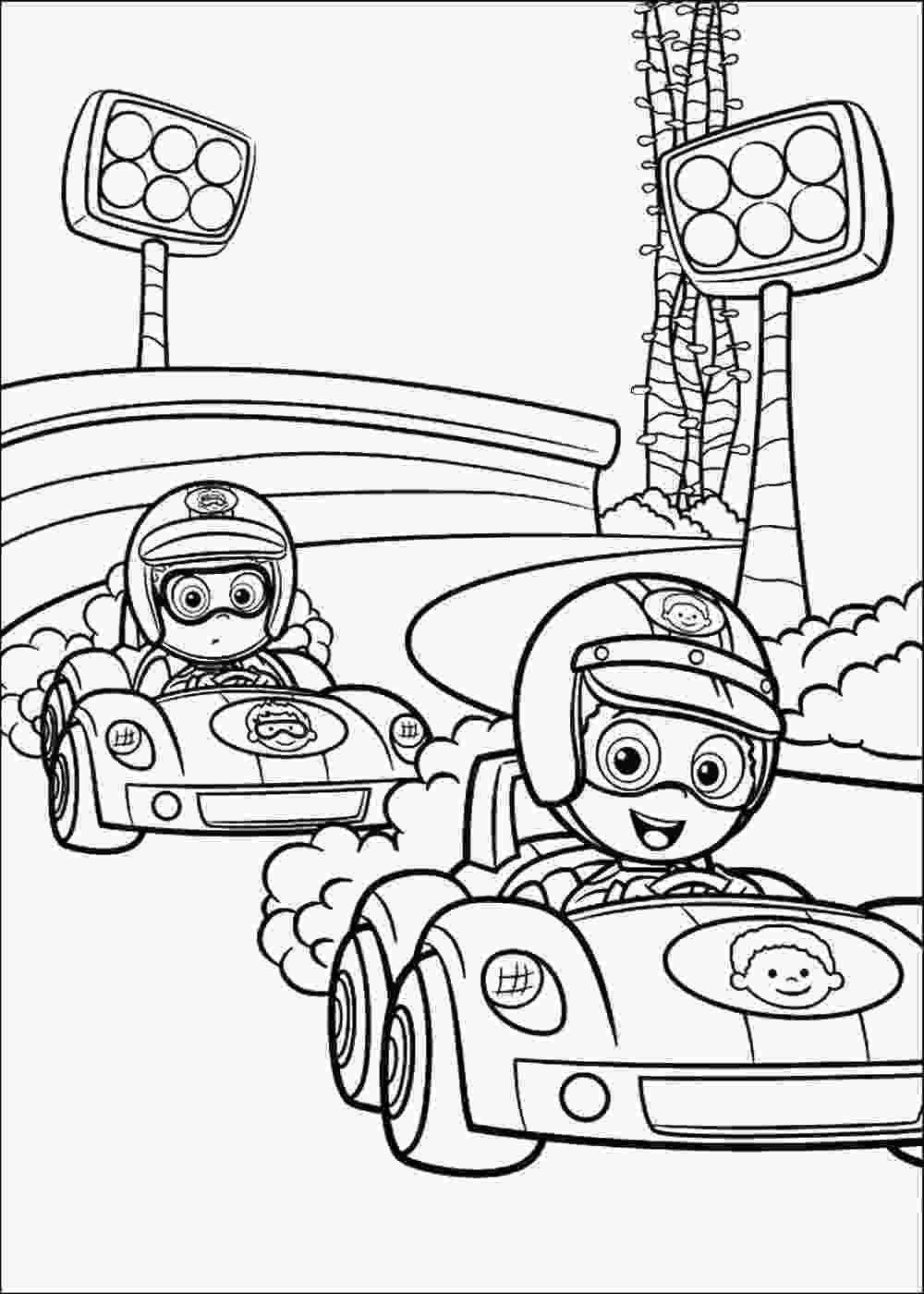 printable coloring page bubble guppies coloring pages birthday printable