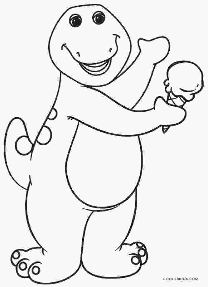 printable coloring page free printable barney coloring pages for kids cool2bkids