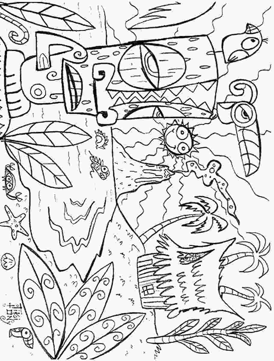 printable coloring page luau coloring pages