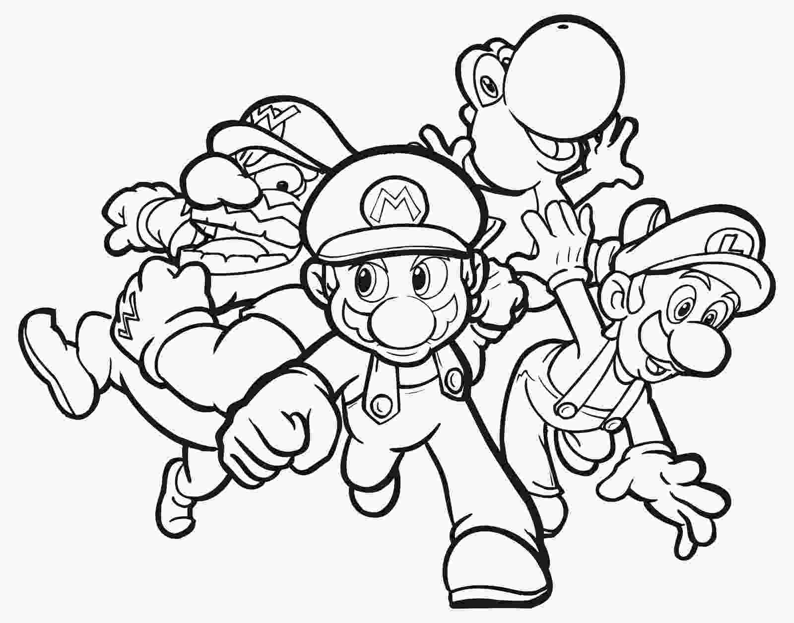 printable coloring page mario coloring pages free large images