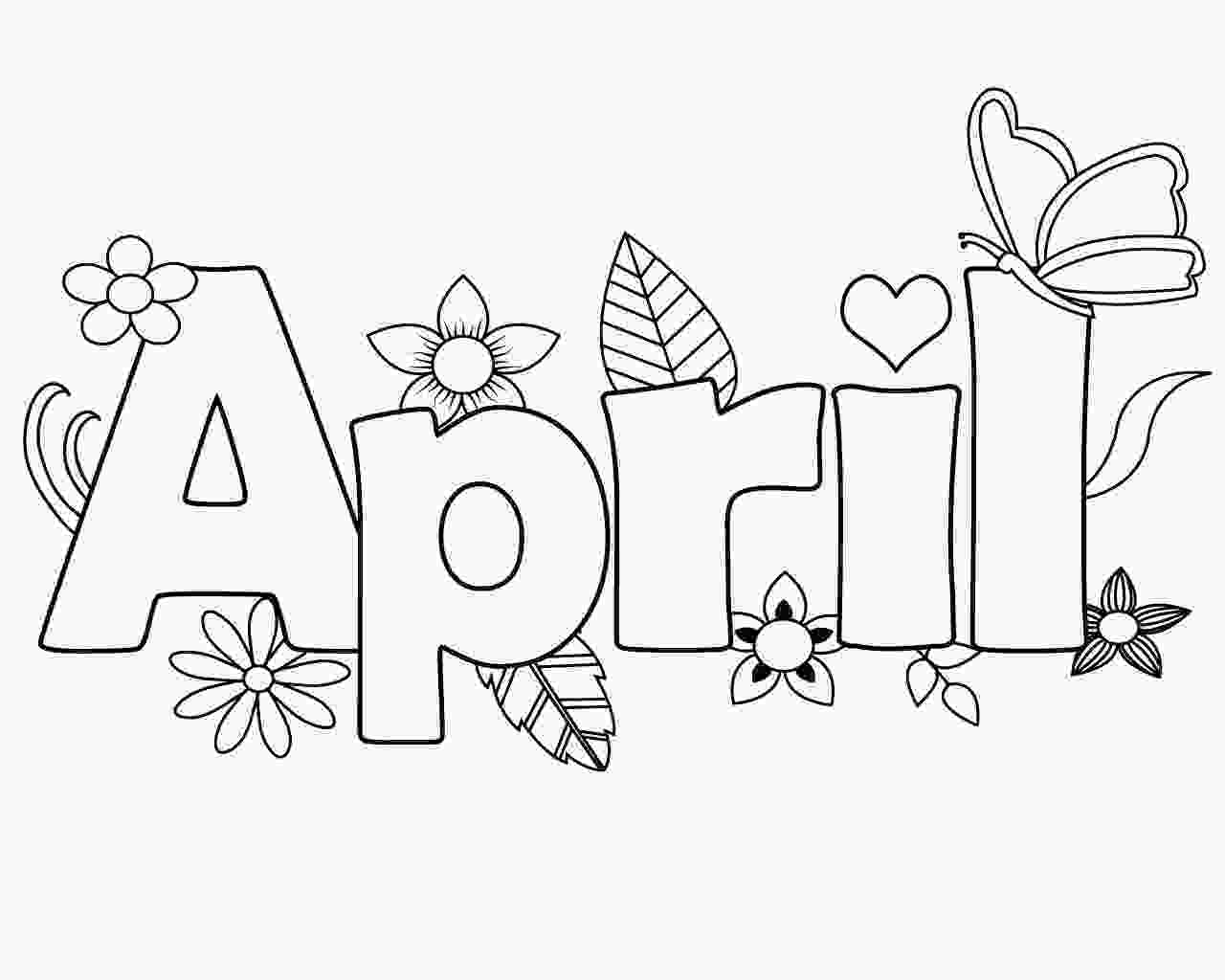 printable coloring page printable april coloring pages online free