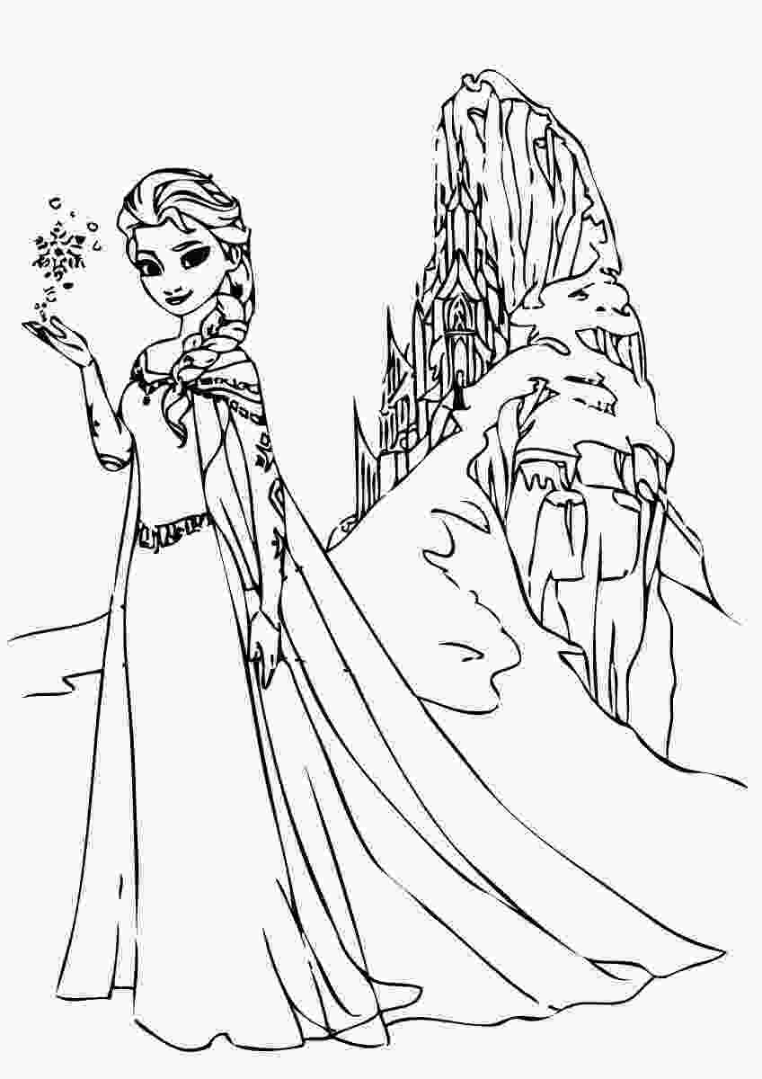 printable elsa pictures elsa frozen coloring pages only coloring pages