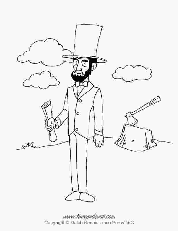 printable pictures of abraham lincoln abraham lincoln coloring page tims printables