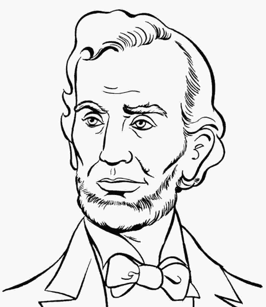 printable pictures of abraham lincoln abraham lincoln presidents day coloring pages abraham