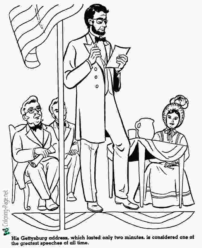 printable pictures of abraham lincoln american history for kids coloring pages