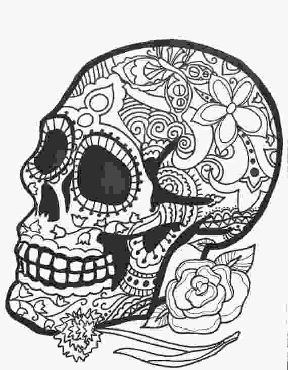 printable skull coloring pages 10 more sugar skull day of the dead original art coloring book