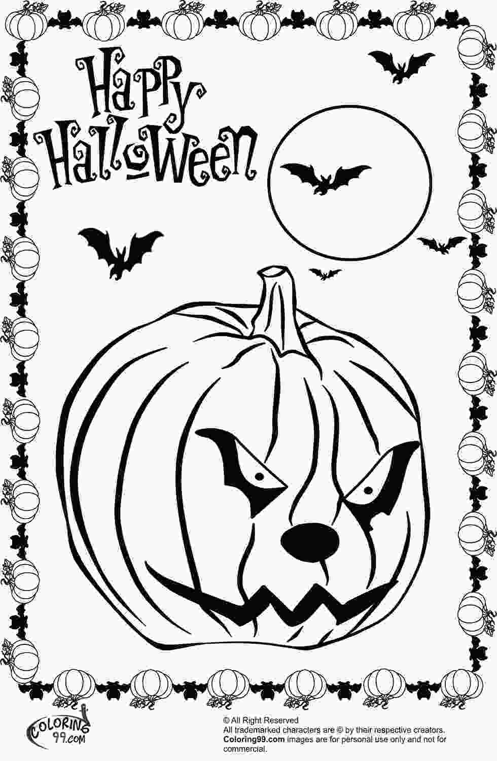 pumpkins to color scary halloween pumpkin coloring pages team colors