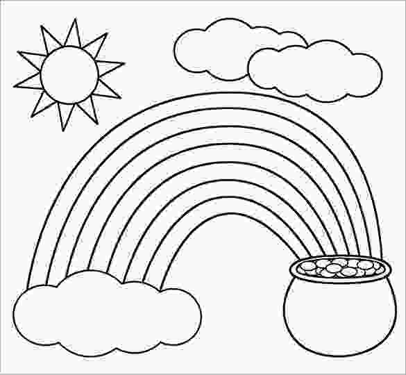 rainbow and sun coloring pages 8 rainbow templates free pdf documents download free