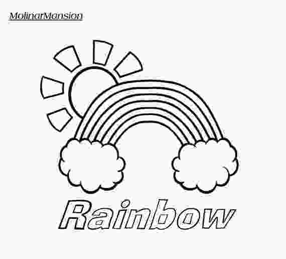 rainbow and sun coloring pages items similar to rainbow in clouds with sun coloring page