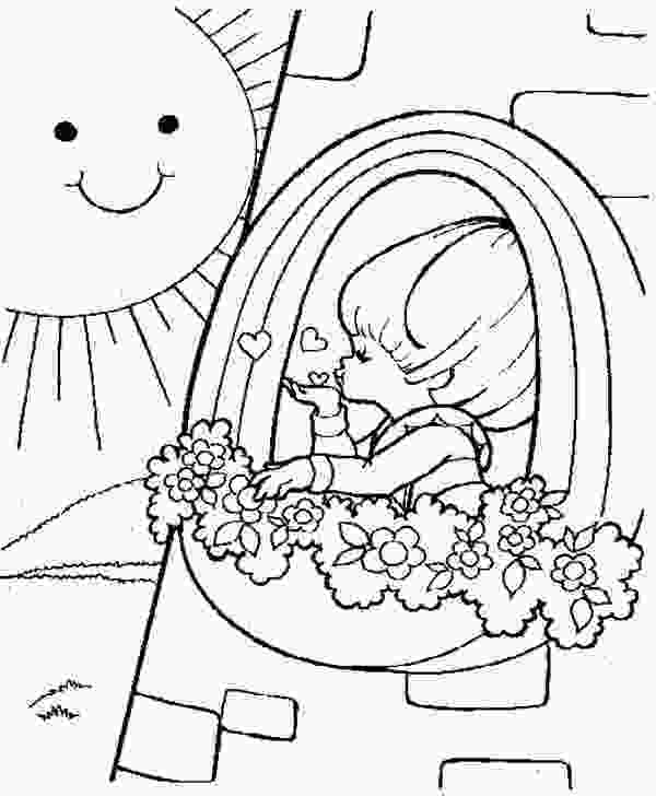 rainbow and sun coloring pages rainbow brite love the sun coloring page rainbow brite