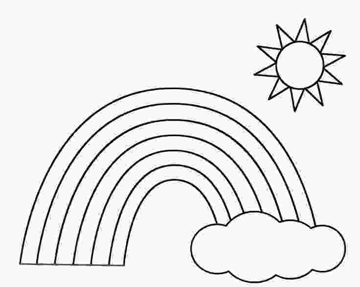 rainbow and sun coloring pages rainbow coloring page the sun flower pages 1