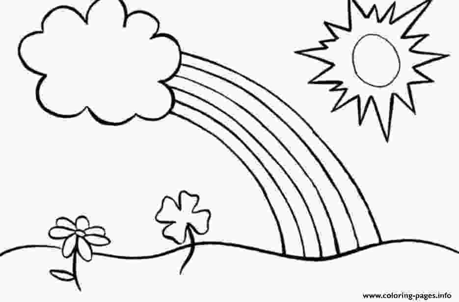 rainbow and sun coloring pages rainbow coloring pages for kids flowers sun coloring pages