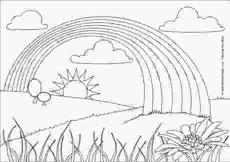 rainbow and sun coloring pages rainbow colouring page 2