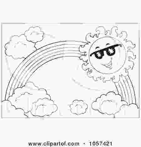 rainbow and sun coloring pages royaltyfree vector clip art illustration of a coloring