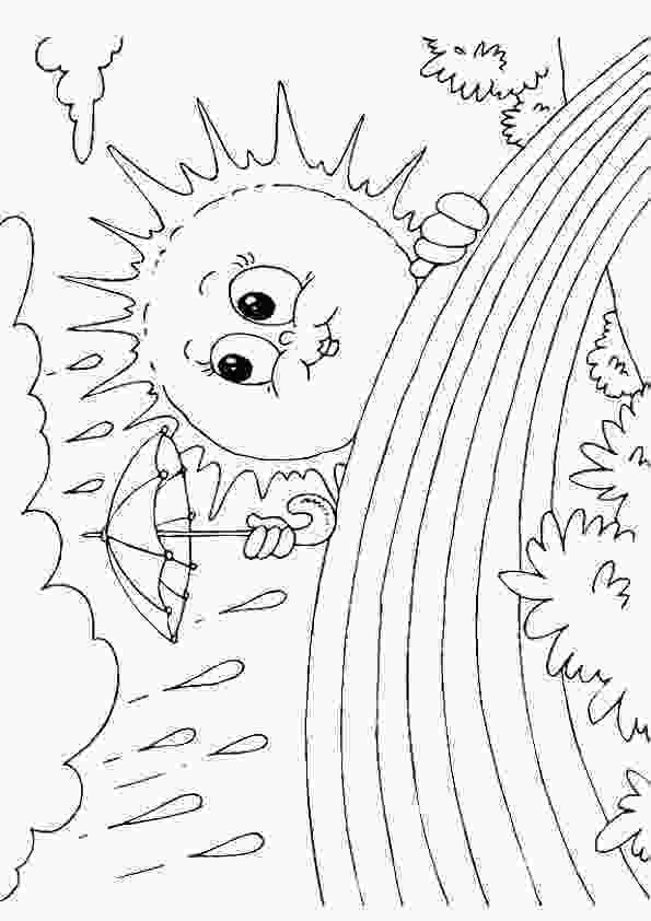 rainbow and sun coloring pages sun amp rainbow coloring page lessons worksheets and activities