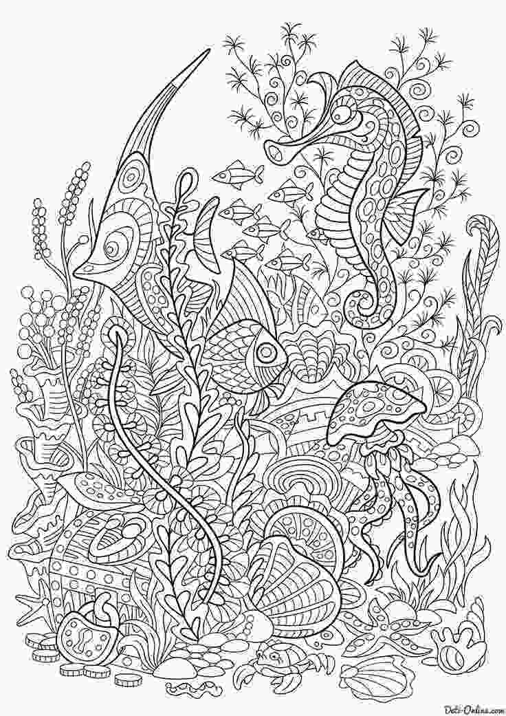 sea coloring book 335 best under the sea coloring pages for adults images on