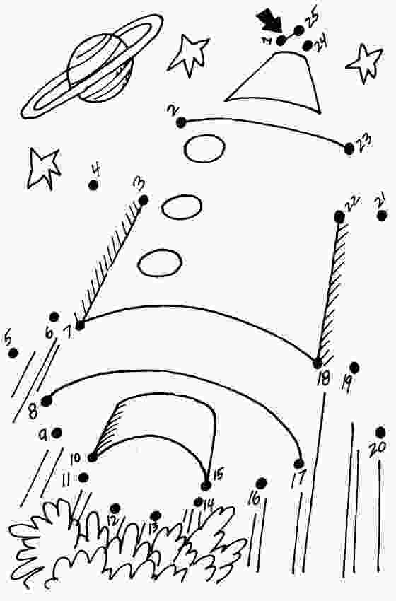 spaceship dot to dot craftsactvities and worksheets for preschooltoddler and