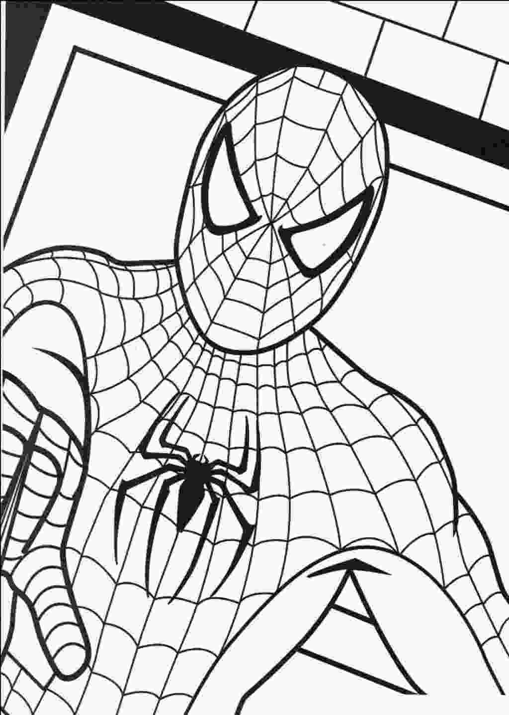 spiderman color page free printable spiderman coloring pages for kids