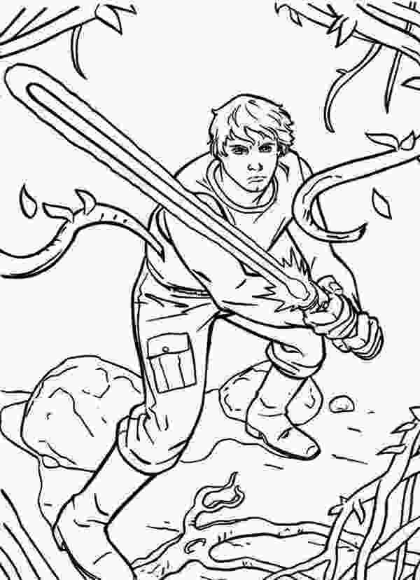 star wars luke coloring pages the great luke skywalker standby with light saber in star