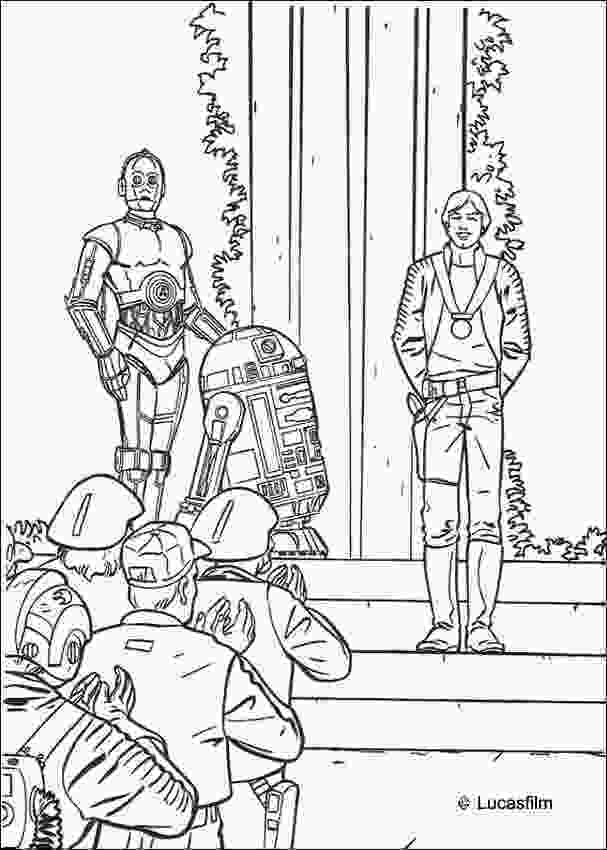 star wars luke coloring pages victory celebration luke r2d2 and c3po coloring pages