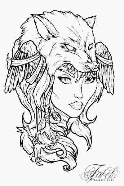 tattoo girl coloring pages viking girl by sara fabel drawings pinterest vikings girls and tattoo
