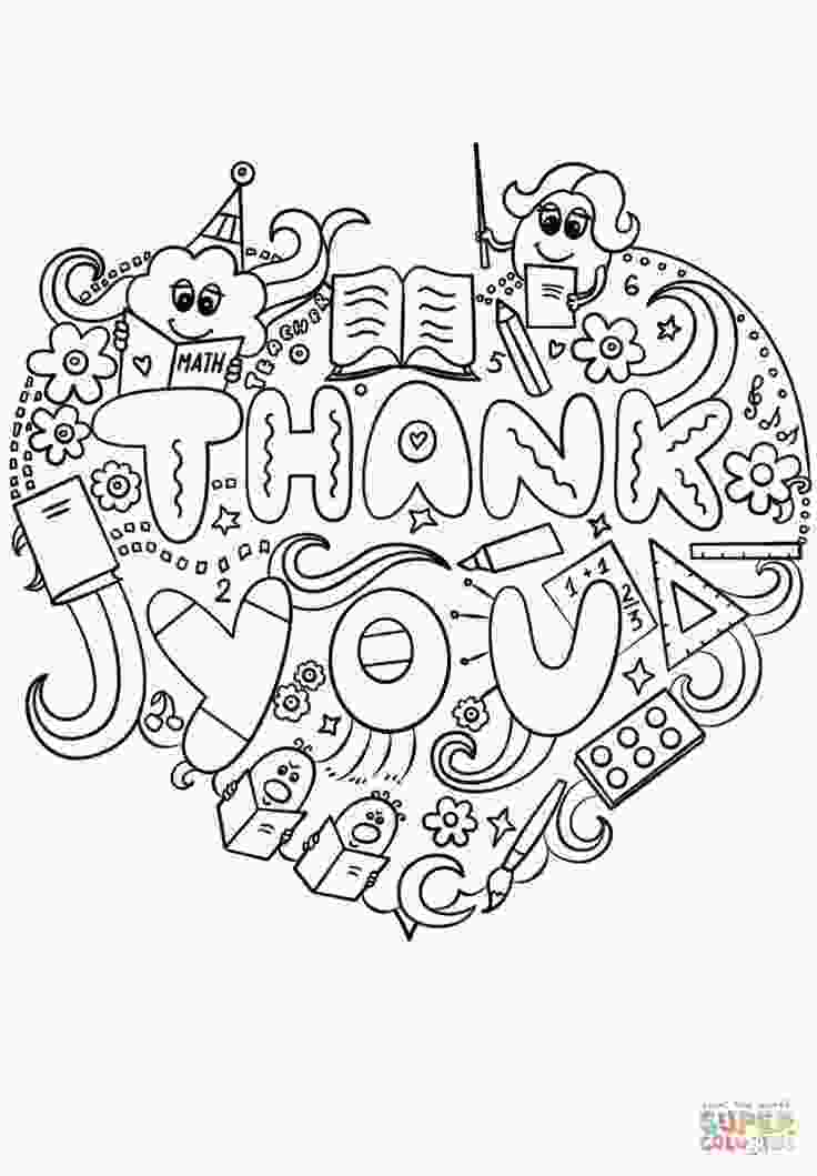teacher appreciation coloring pages thank you teacher doodle super coloring teacher