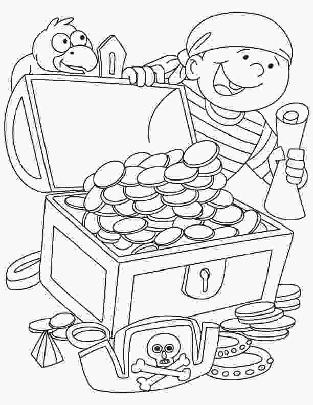 treasure chest coloring pages printable pirate treasure coloring page coloring home 1