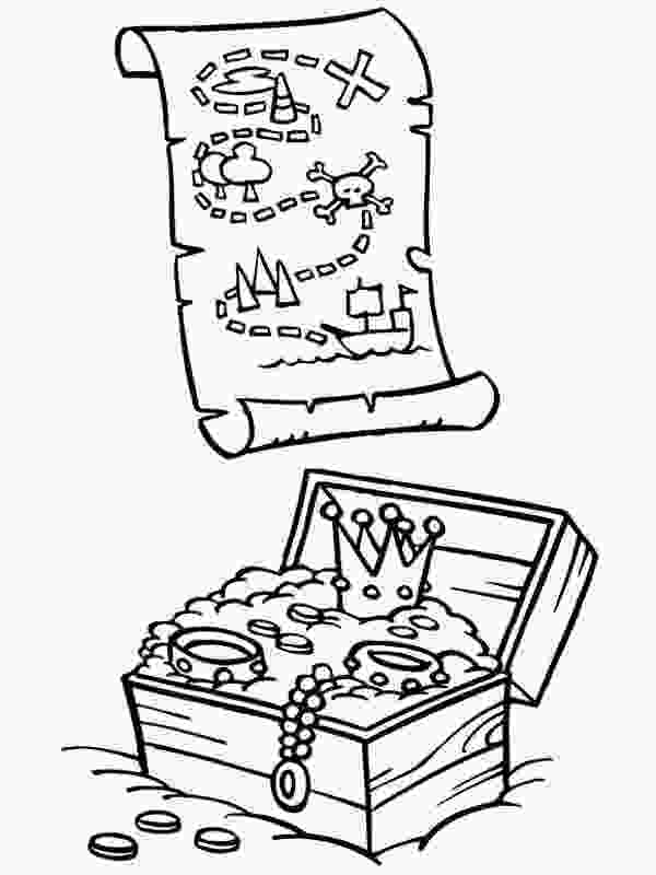 treasure chest coloring pages printable pirate treasure coloring page coloring home