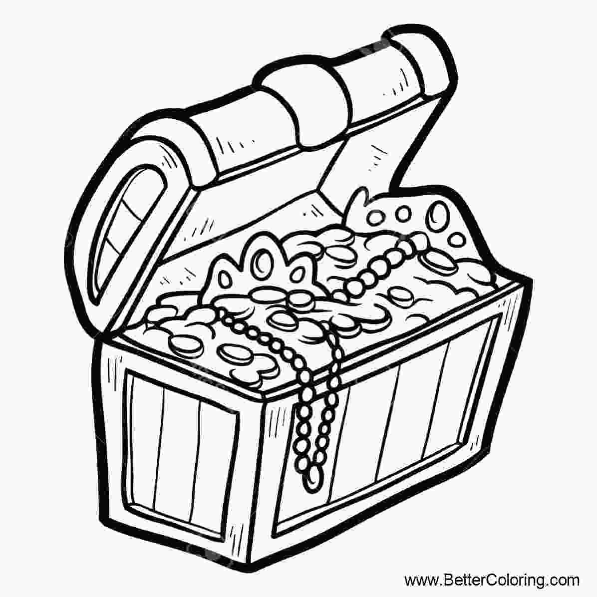 treasure chest coloring pages printable treasure chest coloring pages black and white free