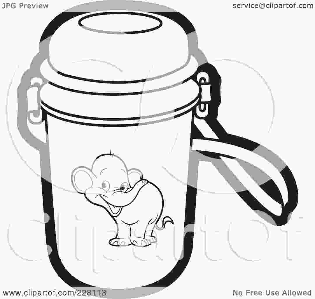 water bottle coloring page royaltyfree rf clipart illustration of a coloring page