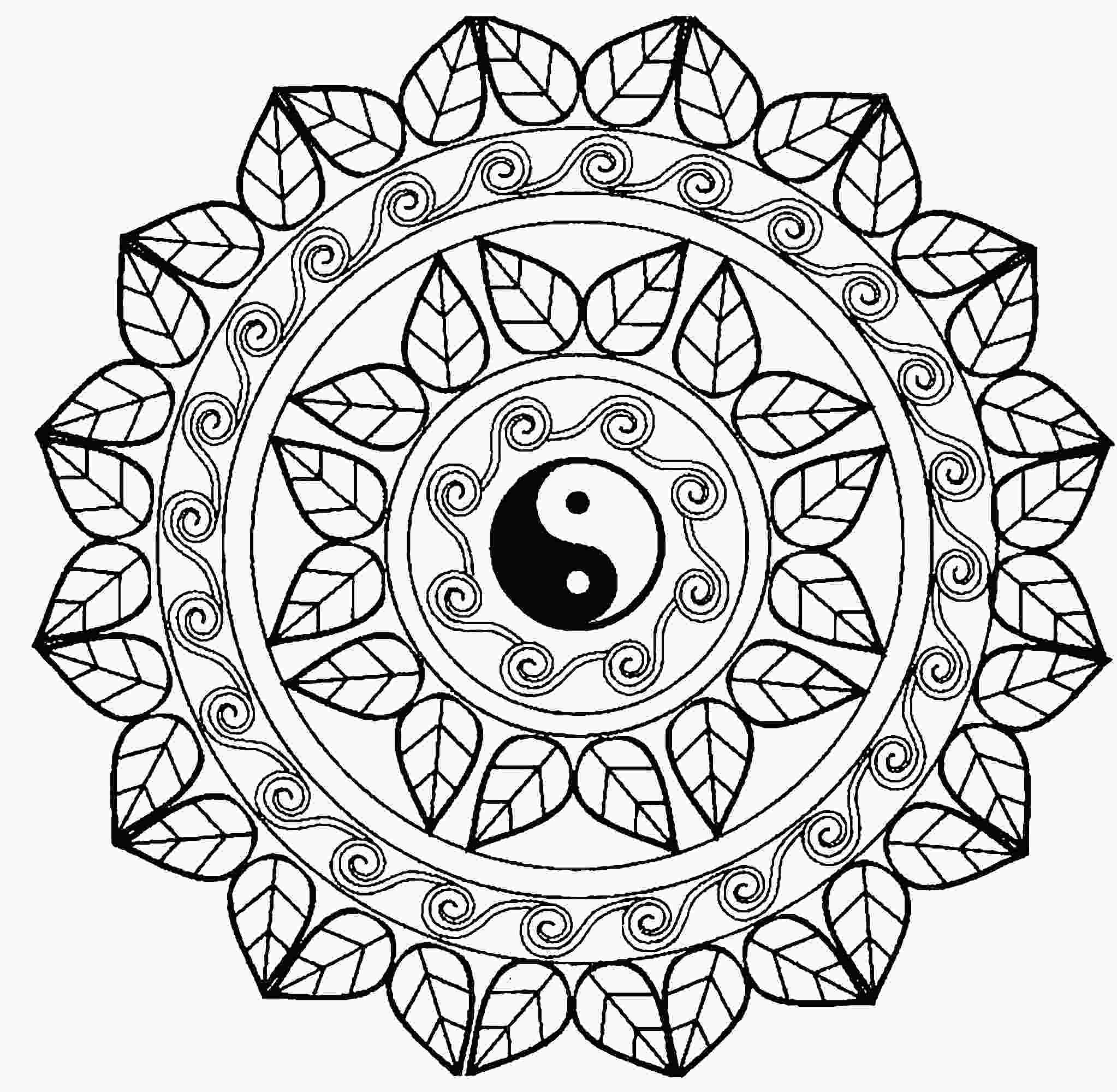 ying yang coloring pages ying yang coloring pages at getcoloringscom free