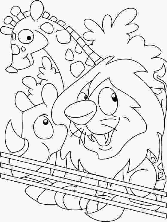 zoo coloring pictures zoo coloring page download free zoo coloring page for