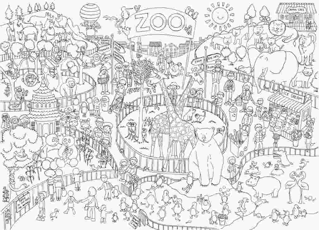 zoo coloring pictures zoo colouring in poster reallygiantposterscom
