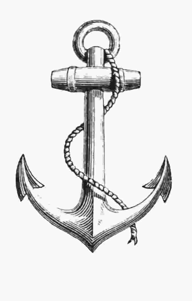 anchor how to draw simple anchor drawing at getdrawingscom free for