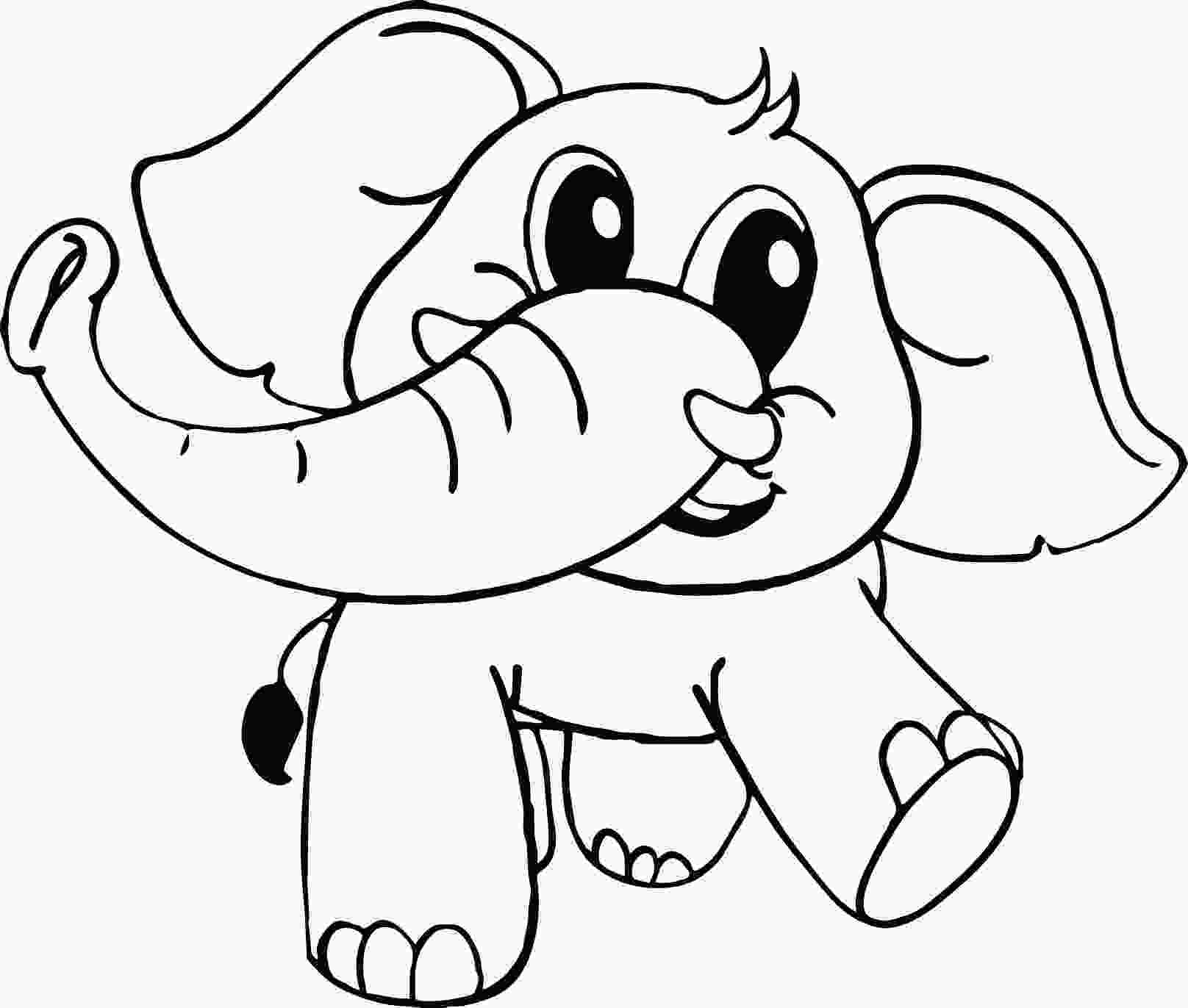 baby elephant coloring page baby cartoon elephant coloring page wecoloringpagecom