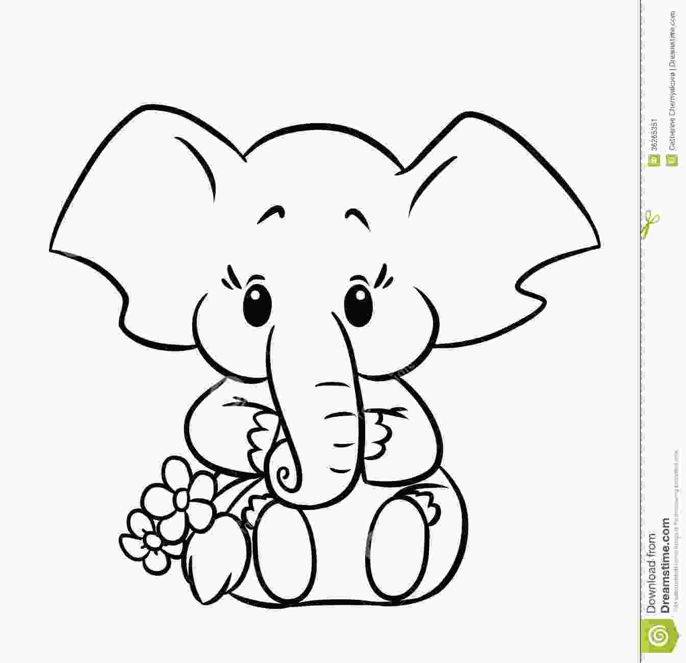 baby elephant coloring page baby elephant coloring pages to download and print for free 1