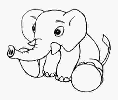 baby elephant coloring page cute baby elephant coloring pages part 1 1
