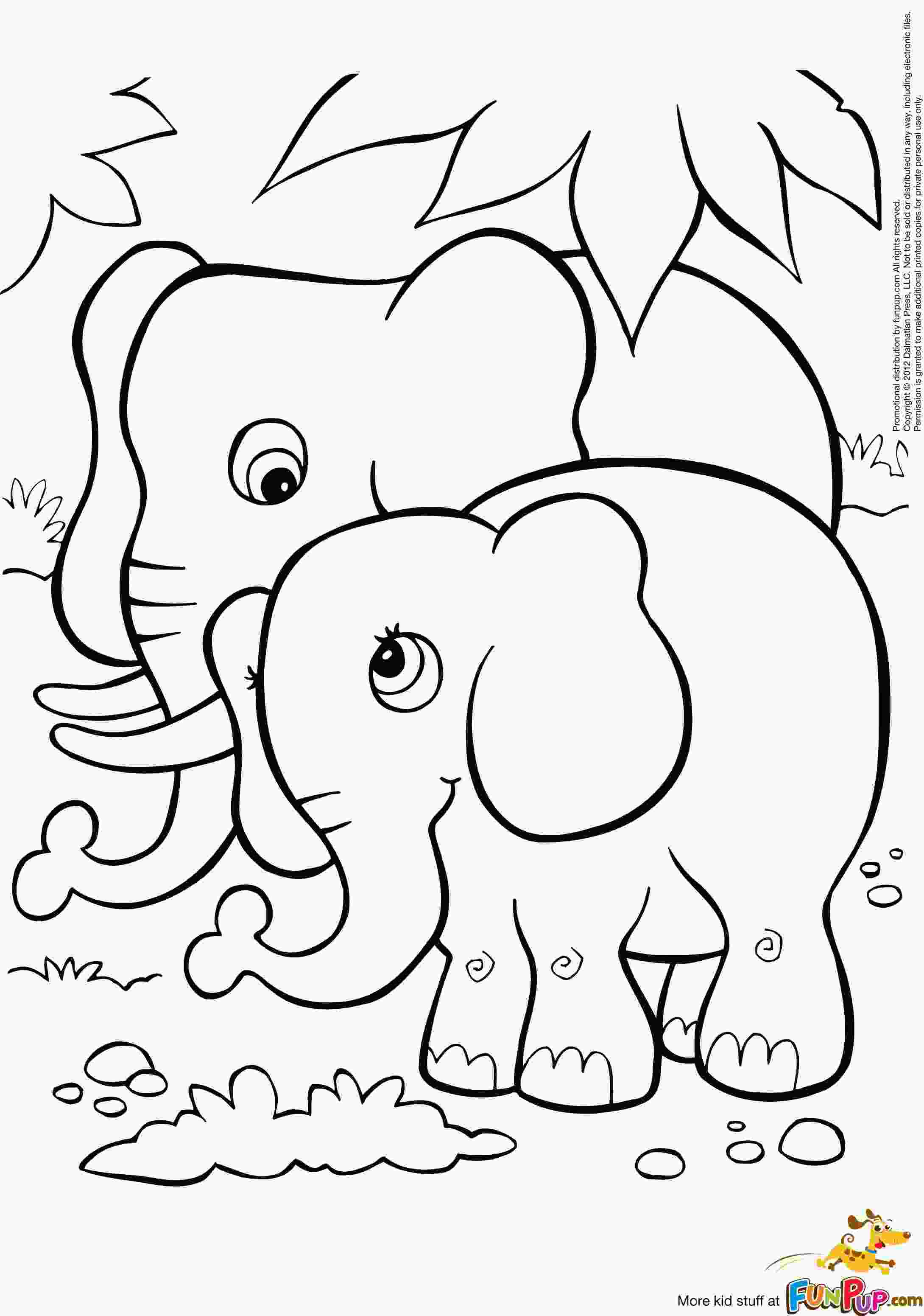 baby elephant coloring page free baby elephant coloring pages