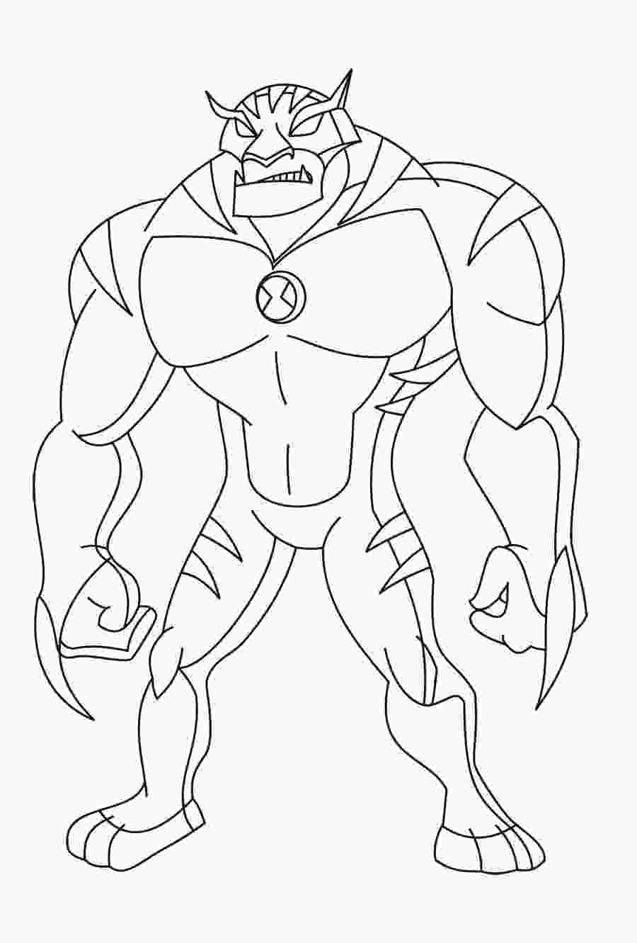 ben 10 alien coloring pages the best free brock drawing images download from 45 free