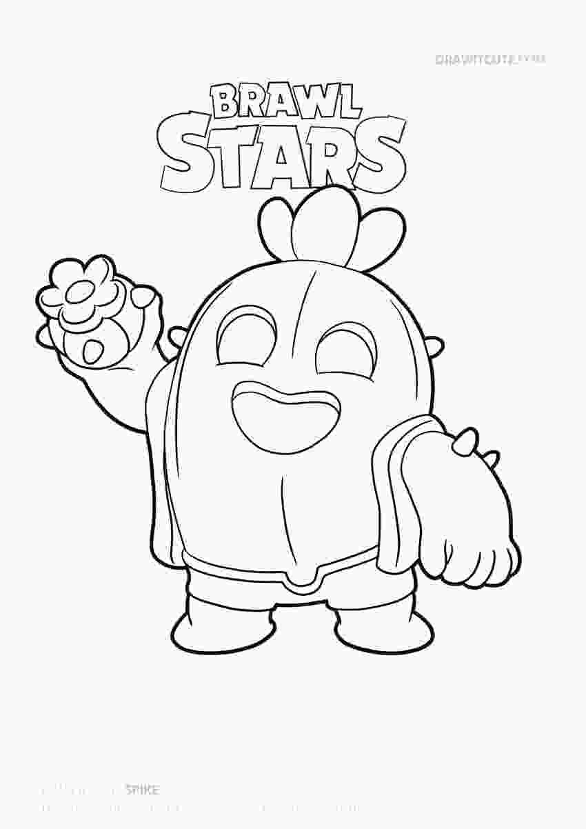 brawl star coloring pages how to draw spike super easy brawl stars drawing