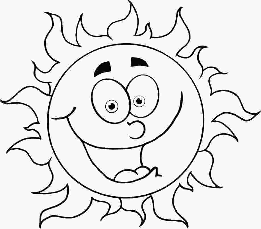 cartoon coloring pictures colouring in cartoon sun for kids