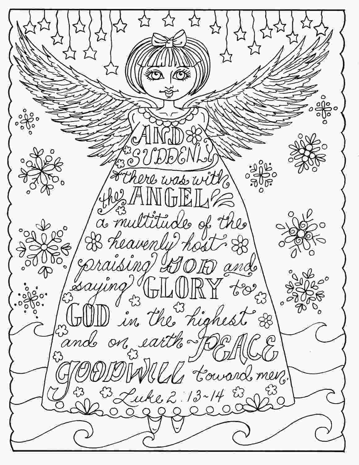 christian coloring pages christmas angel christian coloring page adult coloring