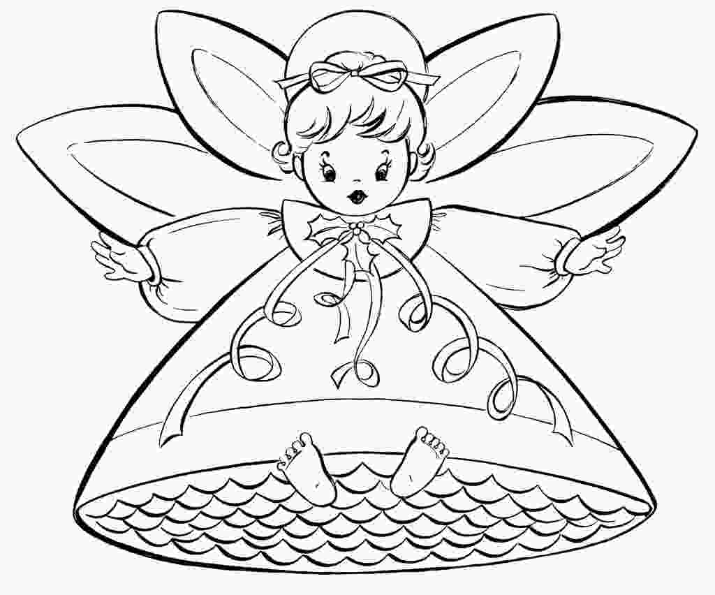 christmas coloring pages printable free free christmas coloring pages retro angels the