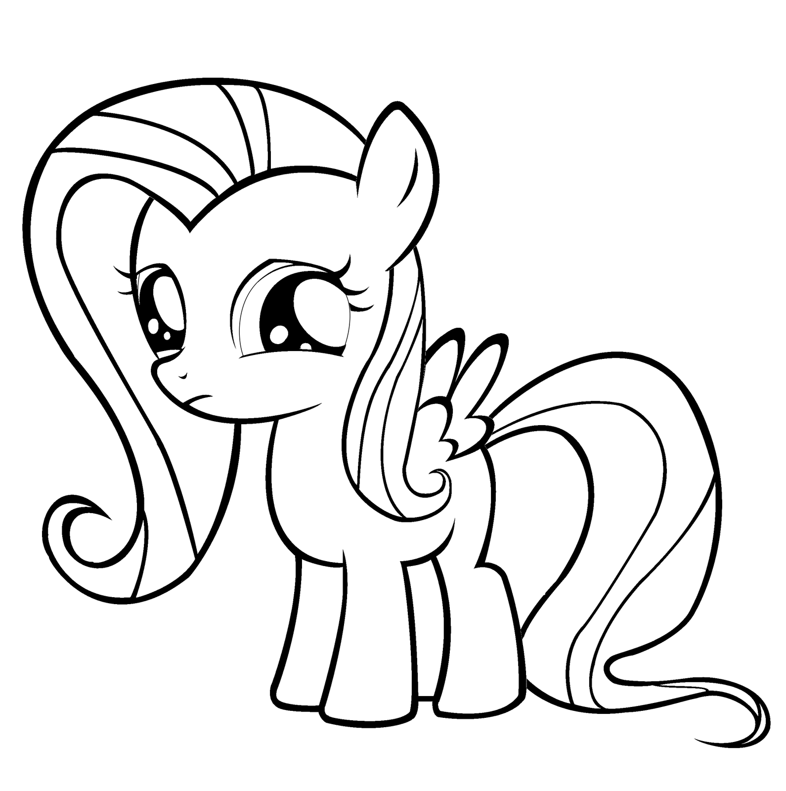 coloring pages ponies fun amp learn free worksheets for kid fluttershy my