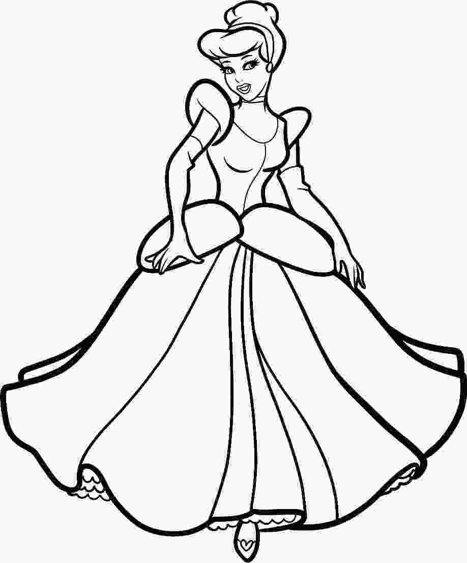 coloring pictures of cinderella cinderella coloring pages free bestofcoloringcom
