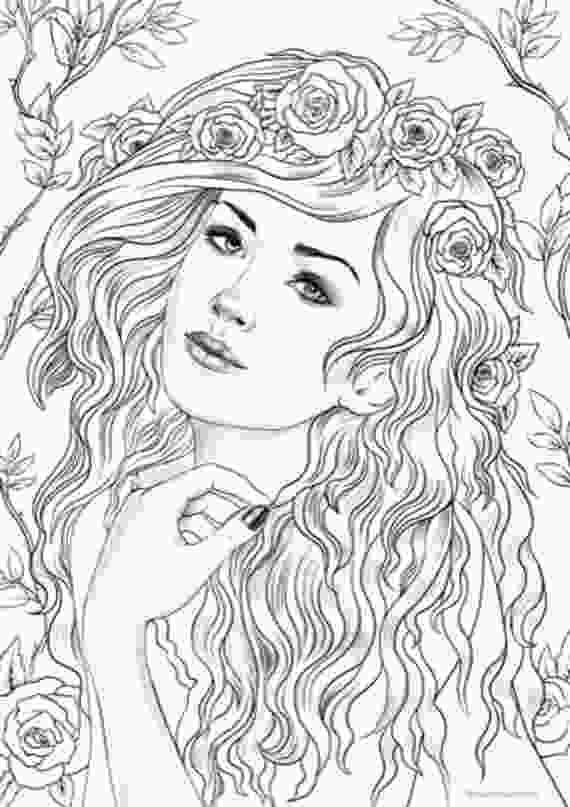 coloring sheet adults nymph printable adult coloring page from favoreads