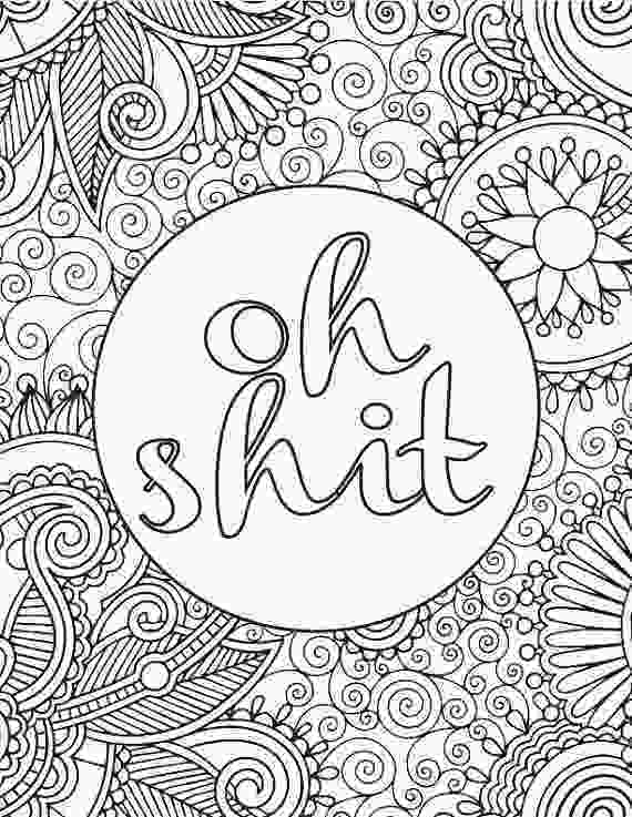 coloring sheet adults printable adult coloring book page oh shit