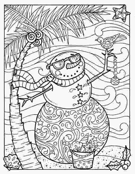 coloring sheet adults tropical snowman coloring page adult coloring beach