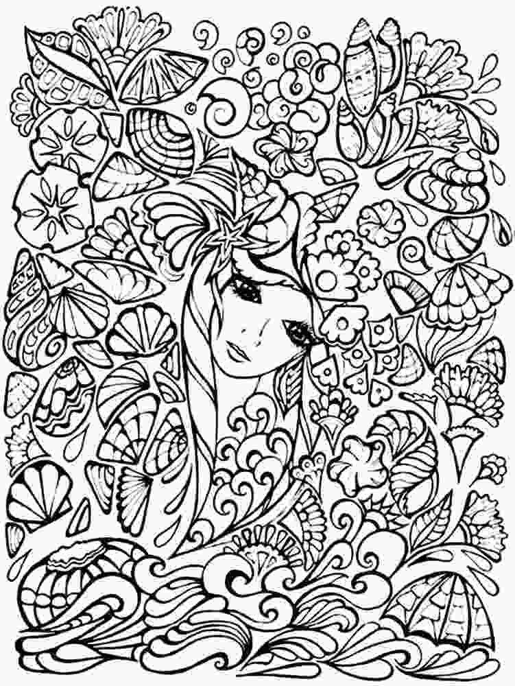 complex coloring page complex coloring pages for 10 to 12yearold girls print