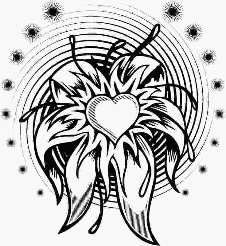 complex coloring page complex flower coloring pages coloring home